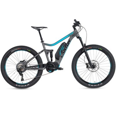 CANYON 2018 E-Bike Rock E37 Mountainbike Fully grau