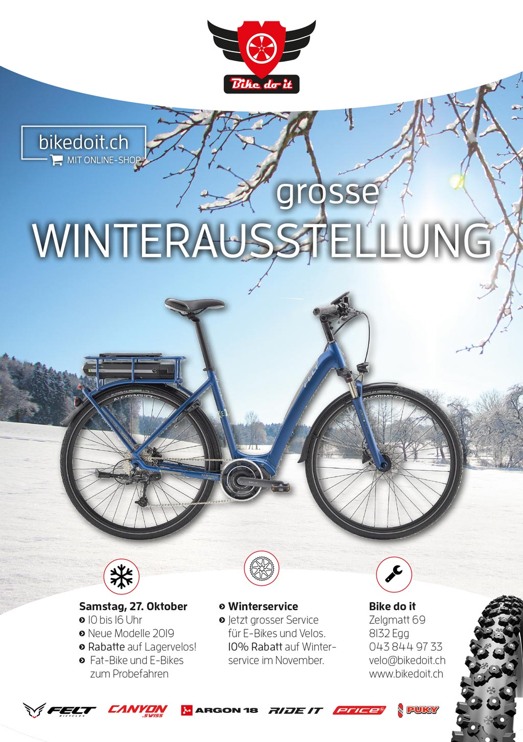 Flyer Saisonstart Wintersaison Bike do it
